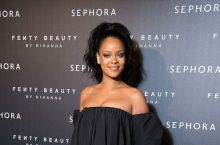 Rihanna Dressed Up An Off-The-Shoulder Dress With The Most Amazing Shoes