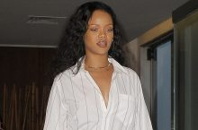 Rihanna Has An Unexpected New Way To Wear Mini Skirt With Shirt