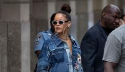 Rihanna Wears The Ultimate Denim Shirt Dress