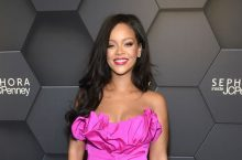 Rihanna Looks Stunning In A Pink Dress At Her Fenty Beauty Anniversary Party