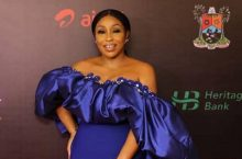 Rita Dominic Wows In Blue At Africa Magic Viewers Choice Awards