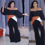 Rita Dominic Shares Her Own Version Of Shoulder Baring Trend And Looks Chic as Ever