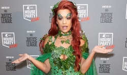 Rita Ora Wore A Dress Made Entirely Of Green Leaves