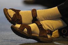 Wearing socks with sandals revealed as the worst fashion crime of all time.