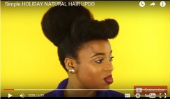 This Simple Holiday Natural Hair Updo Will Serve You Enough Time