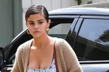Selena Gomez Dressed For Comfort For Easter Sunday Church Service