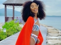 Actress Sharon Ooja Wore The Sexiest Swimsuit on a Jamaican Beach