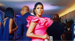 Stephanie Okereke's Dress To 2017 MBGN Is So Beautiful