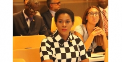 Stephanie Okereke Looks First Class In A Monochrome Dress