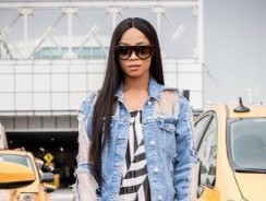 Toke Makinwa Wore This Topshop Denim Jacket You'll Definitely Double Take