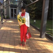 Waje Has A Foolproof Trick To Make Head-To-Toe Red Outfit Looks Cool