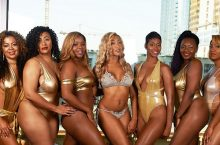 These 7 Business-Women Wore Matching Metallic Swimsuits To Demonstrate Self-Love