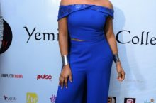 See the Pretty 2-Piece Dress Yemi Alade Wore To Her Jewelry Collection Launch