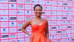 Zainab Balogun And Everyone Wore Red At The Premiere Of 'The Royal Hibiscus Hotel'