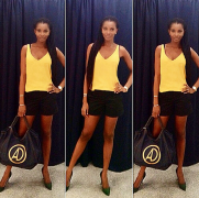 She's Naturally Beautiful; Agbani Darego Flaunts Her Hot Legs (Pics)