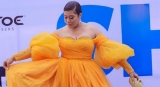 Actress Adunni Ade Was The Orange Cinderella At The 'She Is' Movie Premiere