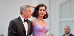 We Can't Get Enough Of Amal Clooney's Lilac Gown At Venice Film Festival