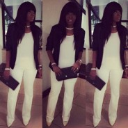 Annie Idibia Makes All-White Outfit Work During The Night