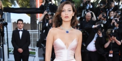 Bella Hadid Showed Up To The Cannes Film Festival Slaying In A Blush Gown