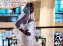 You Need To See This Bride's Champagne Colored Wedding Gown