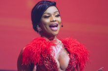 Bonang Matheba Was Dripping in a Shimmering Red Gown at PSL Awards