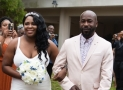 This Bride Comfortably Wore Slide Sandals On Her Wedding Day