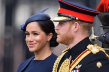 Meghan Markle Stunned in a Navy Givenchy Dress for Her First Royal Appearance After Giving Birth
