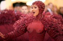 Cardi B Slayed The 2019 Met Gala In A Red Feather Thom Browne Gown