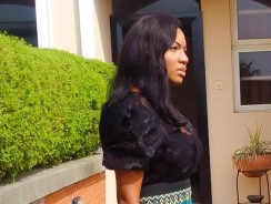 Actress Chika Ike Celebrate Women International Day Wearing Head-to-Toe Velvet