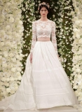 Crop Top Wedding Gowns At New York's Bridal Fashion Week Plus More!