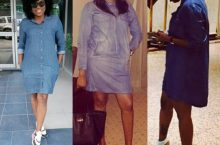 Denim Dress Style Inspiration From Funke Akindele, Oge Okoye and Anie Idibia