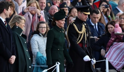 Kate Middleton Donned A Chic Alexander McQueen Coat Dress For St. Patrick's Day