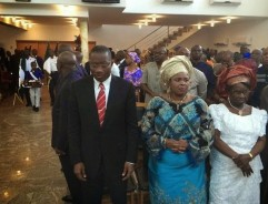 We were just strolling, guess who we saw….Mr President in Church