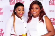 Funke Akindele & Ini Edo Twin In A White Outfit On The Red Carpet