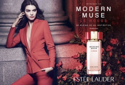 It Girl in Red! Kendall Jenner Makes A Red Suit a THING in Her Newest Estée Lauder AD