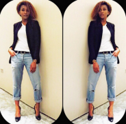 Genevieve Nnaji's Casual and Polished Off-Duty Look Is Your Weekend Go-to Outfit