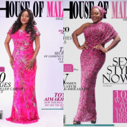 Two Stylish Nollywood Celebs in Gorgeous Dresses Scored House of Maliq Magazine's Cover