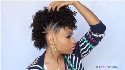 HOW TO DO THIS PONYTAIL MOHAWK NATURAL HAIRSTYLE