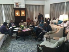 SPOTTED: President Jonathan has no shoes in America (Pics)