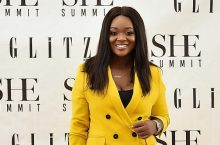 Jackie Appiah Wears A Double-Breasted Yellow Pantsuit To Attend Glitz Africa's SHE Summit 2019