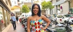 Joselyn Dumas Takes A Beautiful Kente Gown Into The Streets Of Paris