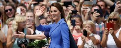 Kate Middleton Wore A Blue Coat Dress That's Way Too Beautiful