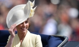Kate Middleton Was Draped in a Yellow Alexander McQueen Coat Dress at Trooping the Color