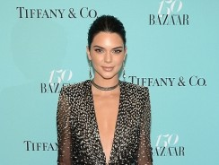 Kendall Jenner Looks Amazing In A Plunging Sequinned Gown