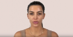 Kim Kardashian Proved Her Makeup Skills Using Only Highlighter and Contour To Achieve A Stunning Look