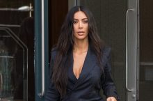 Kim Kardashian Just Wore The Pinstripe Pantsuit In The Most Sexy Way