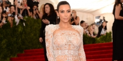 KIM KARDASHIAN LOOKED FAB IN A SHEER, ICICLE OF A NAKED DRESS AT THE MET GALA