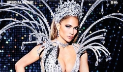 Jennifer Lopez Wore The Ultimate Futuristic Bodysuit On Paper magazine Cover