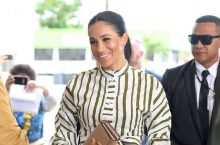Meghan Markle Looks Breathtaking In A Striped Martin Grant Dress