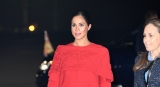 Meghan Markle Arrived Morocco In A Stunning Valentino Cape Dress